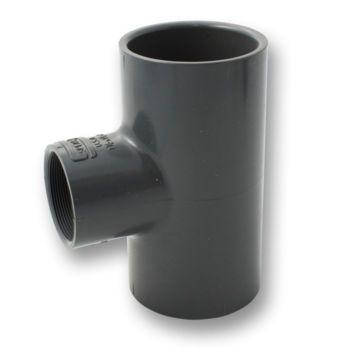 PVCU Reducing Tee 90 Deg Plain Socket x NPT Female Thread