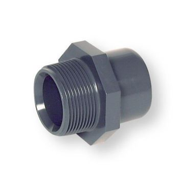 PVCU Adaptor Plain Socket/Spigot x BSP Male