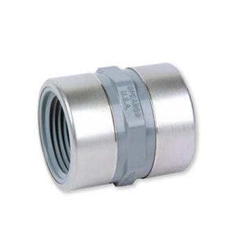 PVC-C Reducing Socket NPT Female Threaded Stainless Steel Reinforced