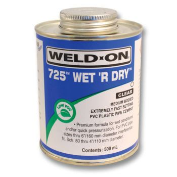 Weld-On 725 WET 'R DRY Cement