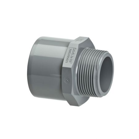 VDL PVC-C Nipple Plain Socket/Spigot x BSP Male