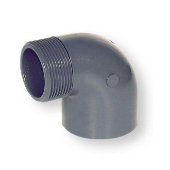 PVCU Elbow 90 Deg Plain Socket x BSP Male Thread
