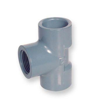 PVC-C Adaptor Tee 90 Deg Plain x NPT Female Thread