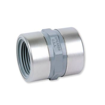 PVC-C Reducing Socket NPT Female Threaded Stainless Steel Reinforced