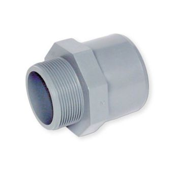 ABS Adaptor Plain Spigot/Socket x BSP Male Thread