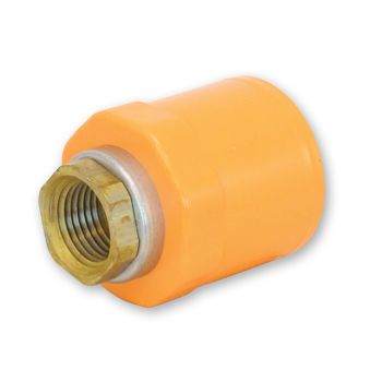 FlameGuard CPVC Sprinkler Adaptor Socket x Metal NPT Female Thread With Positioning Ring